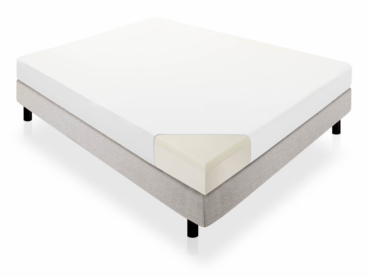 lucid 10 memory foam dual layered mattress